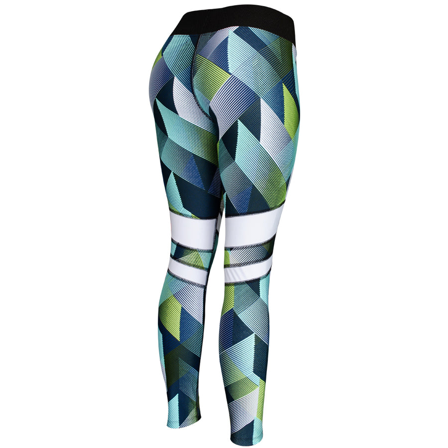 Legging Deportivo Mujer Champs State Greenprint Stripes