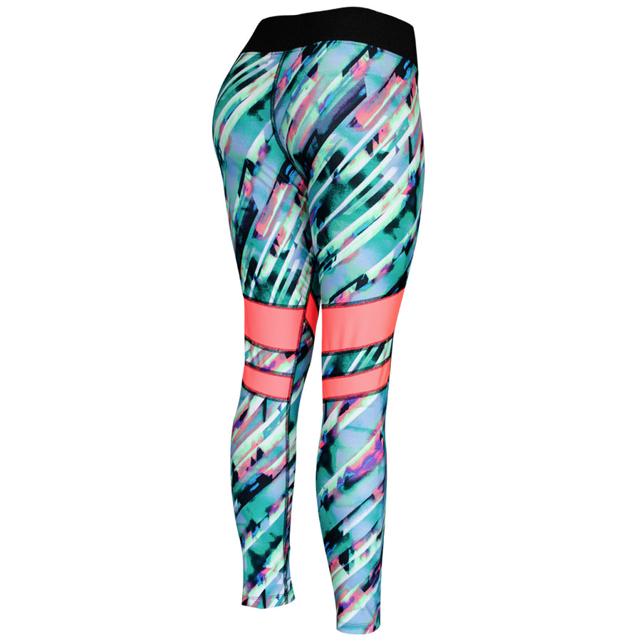Legging Deportivo Mujer Champs State AquaPink Stripes