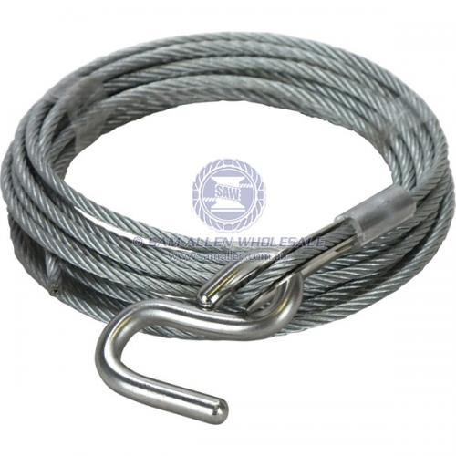 Winch Wire - 'S' Hook 5mm x 6.1m V2-54108