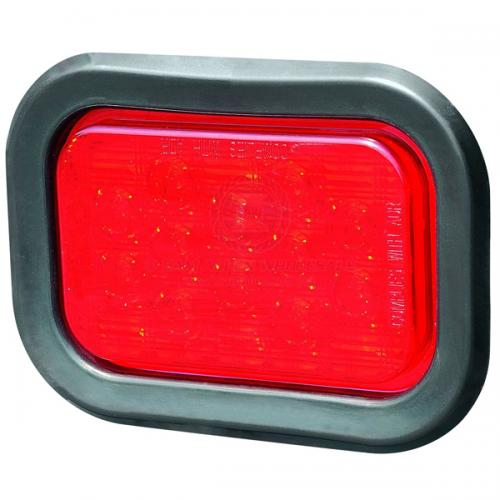 LED Flushmount 162mm Rect. 10-30V Red V2-547152