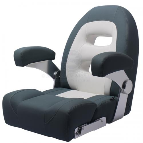 Relaxn® Cruiser Series Seat High Back White/Dark Grey Crosshatch V2-293717