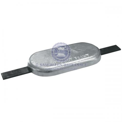 Anode Zinc Oval with Strap 175 x 77 x 33 V2-21127