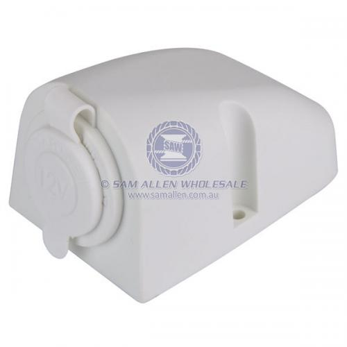 Surface Mount Socket White 12/24V V2-53039