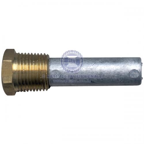 Anode Zinc Pencil with Brass Plug 51mm x 12.7mm V2-21118