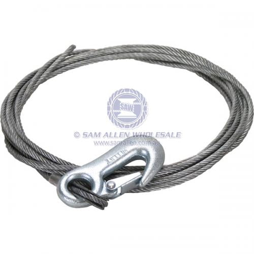 Winch Wire - Snap Hook 4mm x 4.5m V2-54150