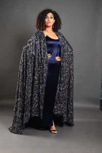 Full embroidered cape