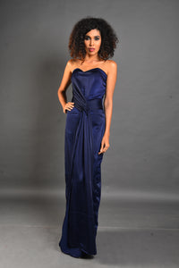 Tube front knot gown