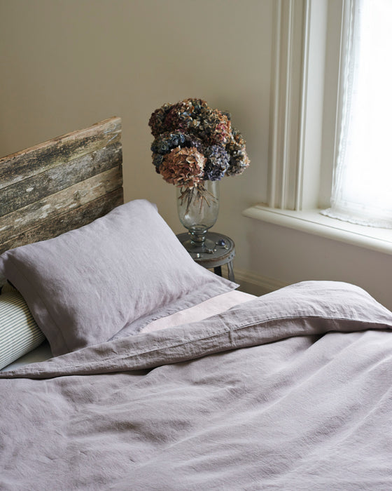 French linen duvet covers & pillows in shades of Provence.
