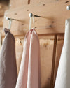 Washed linen hand towels in beautiful soft shades of provence