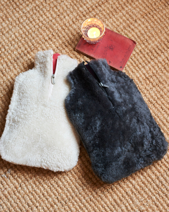 Cosy 100% Swedish sheepskin Hot Water Bottle Cover