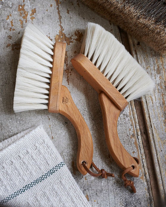 Finest quality goat hair cockpit hand brush - beech handle