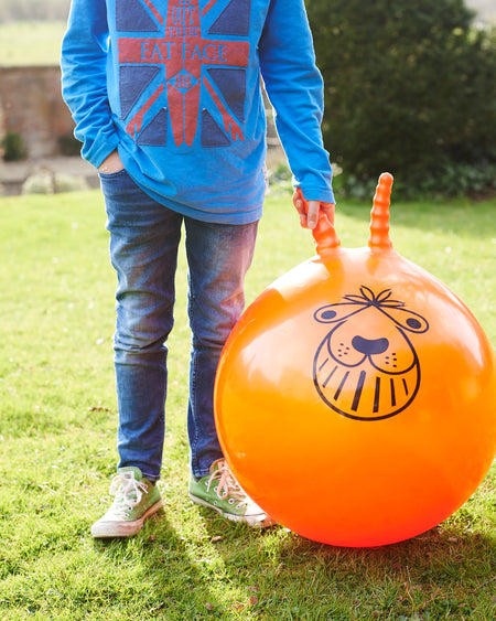 Giant space hopper & foot pump in retro style box