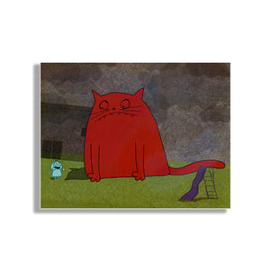 Giant Cat Art Print
