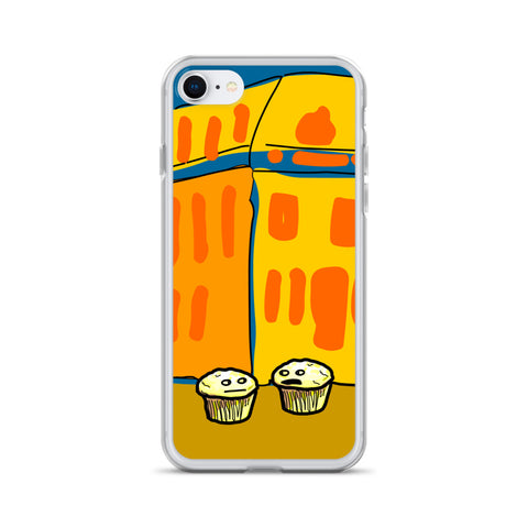 """Bluebird"" Muffin iPhone Case"