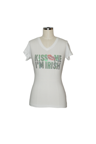 "Kiss Me I'm Irish ""Lips"" T-Shirt"