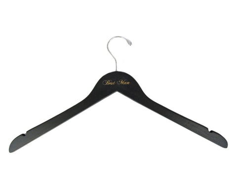 Engraved Black Groom's Party Hanger