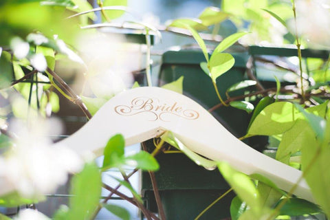 Elegant Script Bridal Party Wooden Hanger