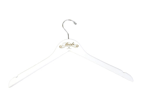 Engraved White Bridal Party Hangers