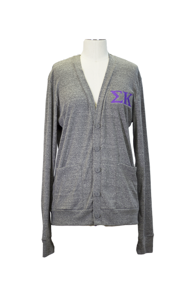 Sigma Kappa Letters Sweater - Grey