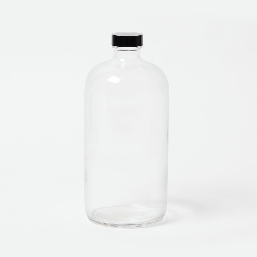 Clear Glass Bottle - 32oz