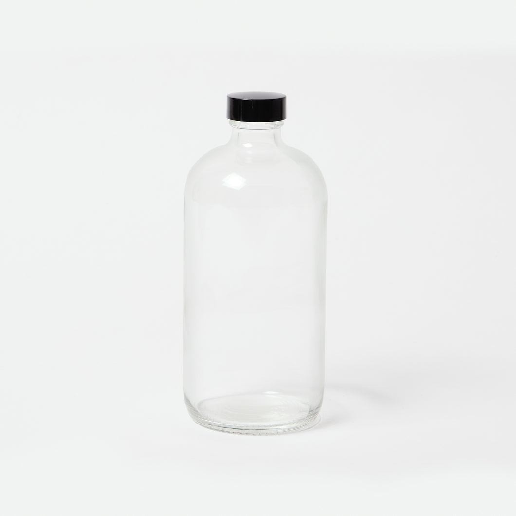 Clear Glass Bottle - 16oz