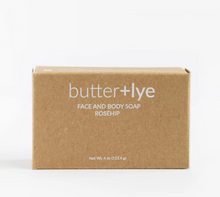 Load image into Gallery viewer, Butter + Lye - Rosehip Face and Body Soap