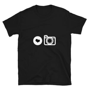 Love Photography - Black Short-Sleeve Unisex T-Shirt - RealBigEnvelope