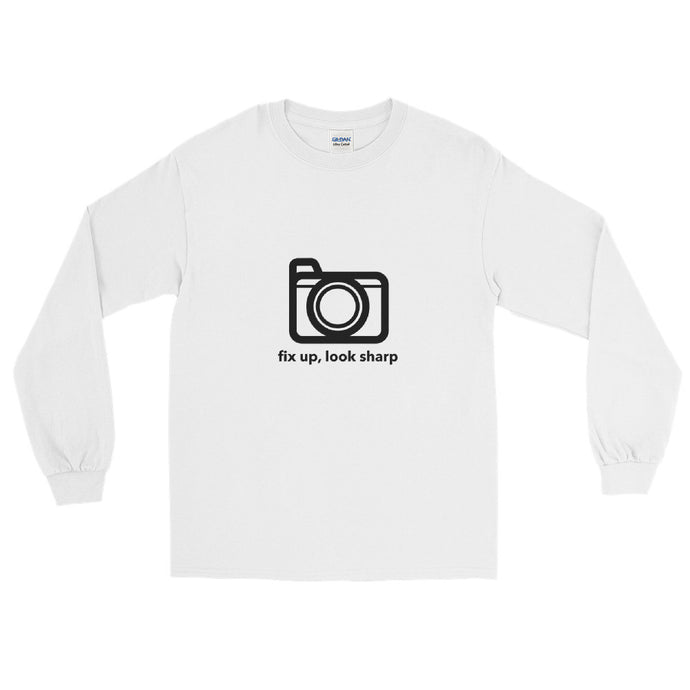 Fix up, Look Sharp Print, Long Sleeve T-Shirt - RealBigEnvelope
