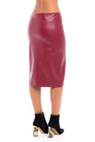 Leather Pencil Skirt (Israel only)