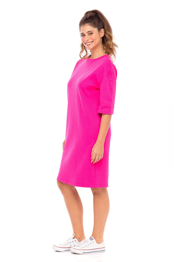 Solid T-Shirt Dress (Israel only)