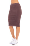 Ribbed Midi Skirt (Israel only)
