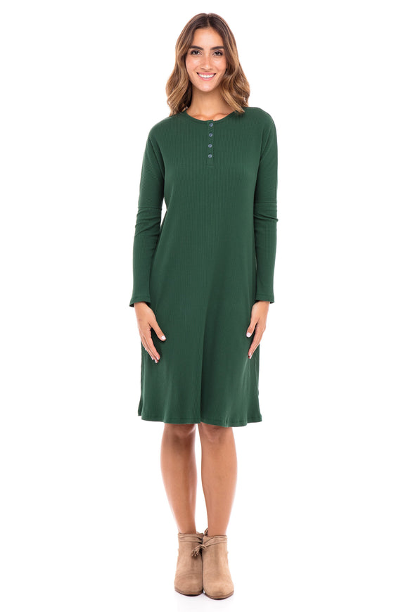 Ribbed Henley Dress (Israel only)