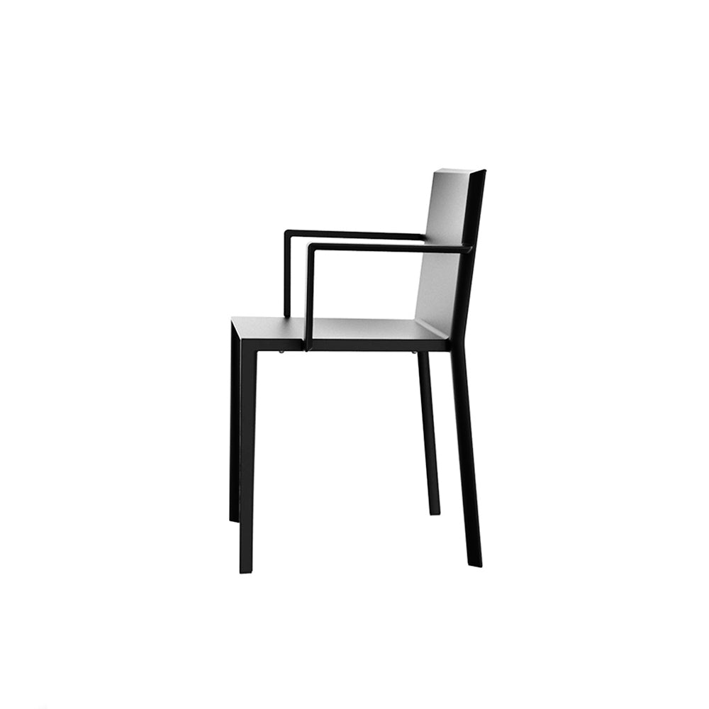 Quartz armchair black
