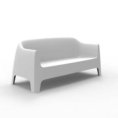 Solid sofa blanco