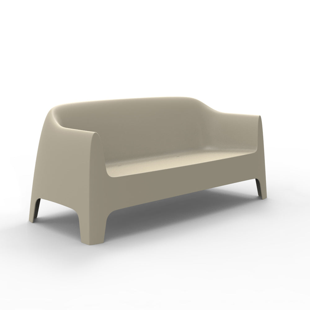 Solid sofa ecru