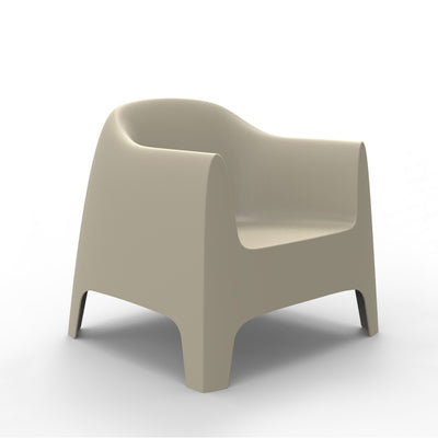 Solid lounge chair ecru