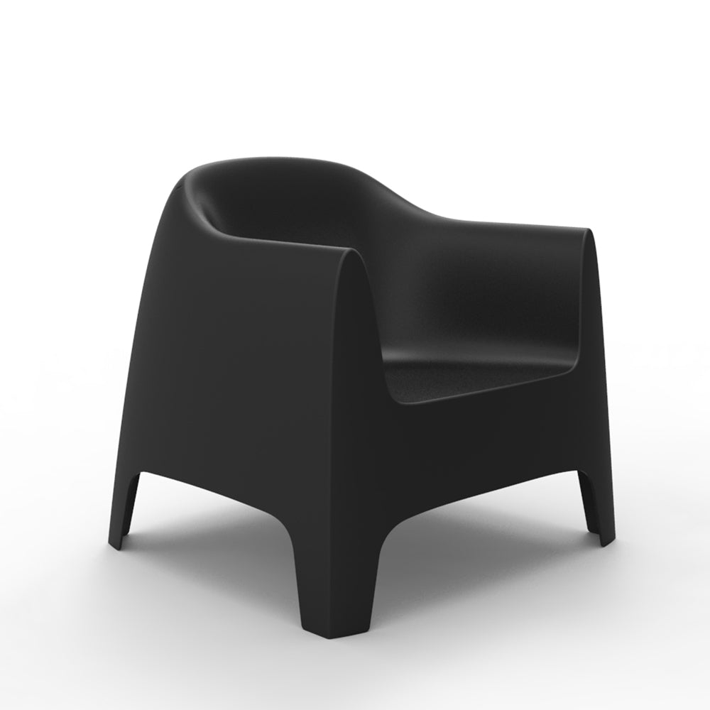 Solid lounge chair negra
