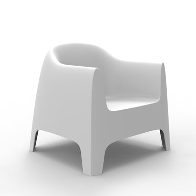 Solid longe chair blanca