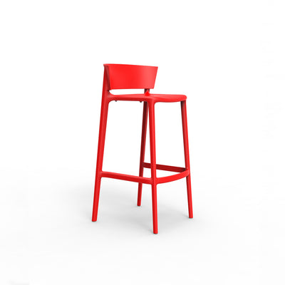 Africa bar stool red