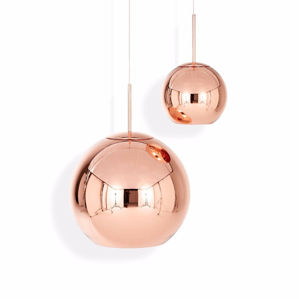 Copper round 45 pendant