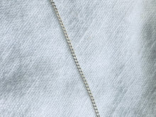 Load image into Gallery viewer, Sterling Silver Mini Fob Chain Necklace