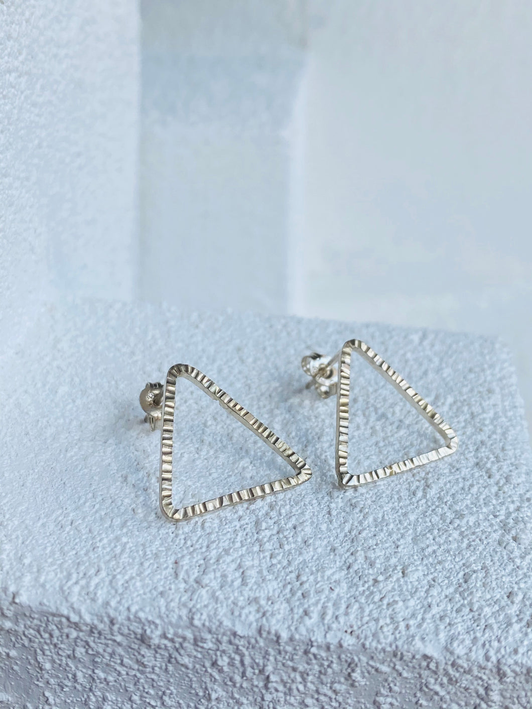 Triangle Textured Studs