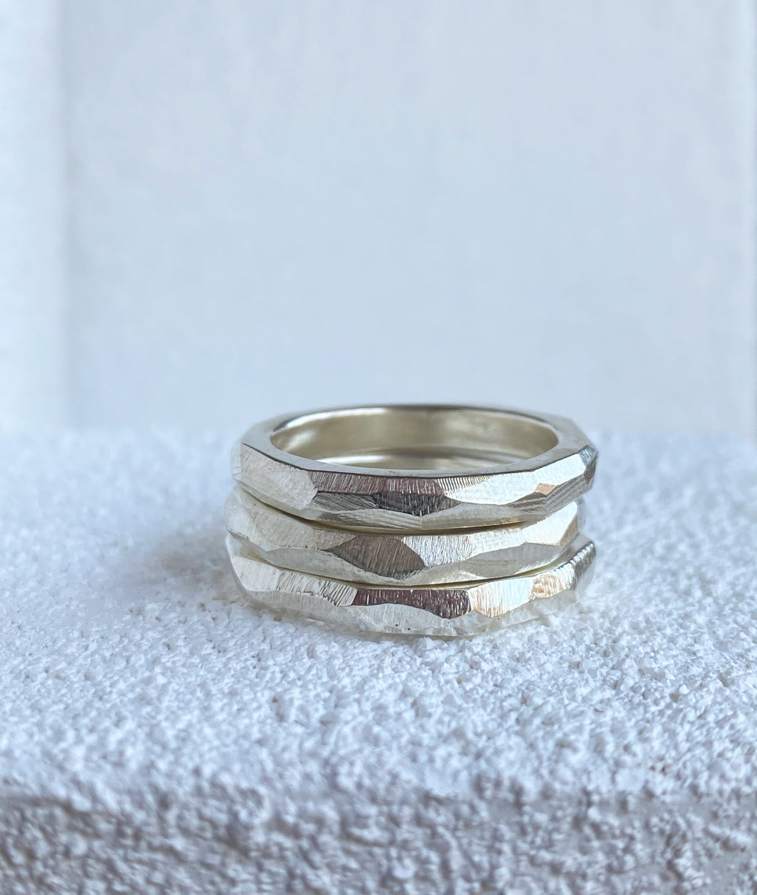 Glacial Unisex Stacking Ring