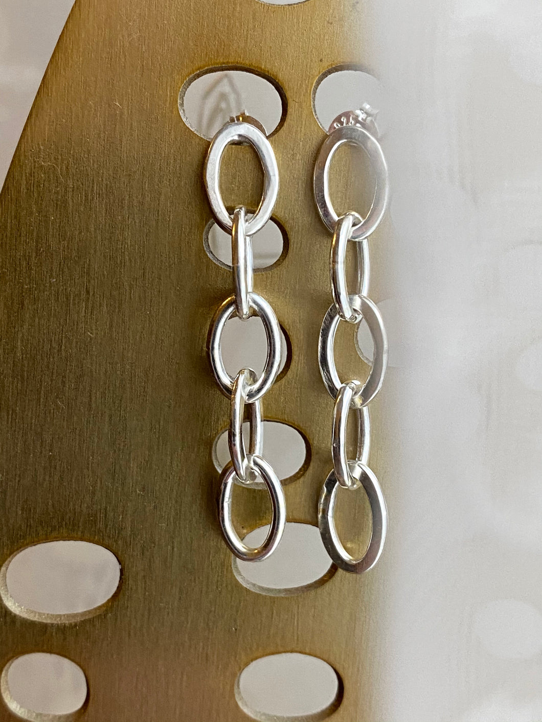 Oval Link Chain Studs