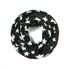 Load image into Gallery viewer, Black and white star snood face covering