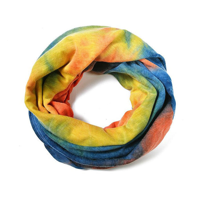 cheery days colourful snood and face covering tie dye