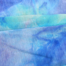 Load image into Gallery viewer, Beautiful blues tie dye snood face covering