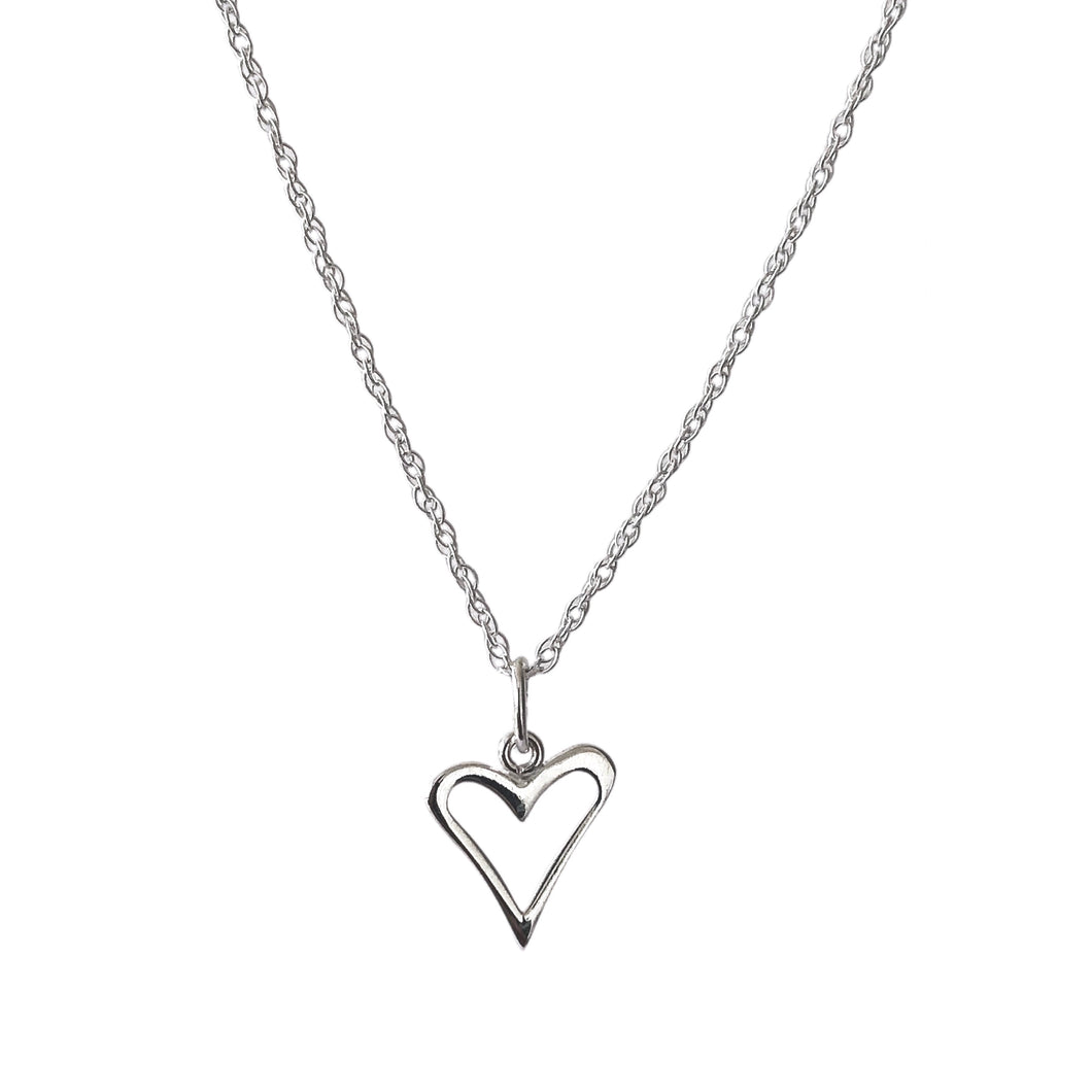 Little silver heart necklace