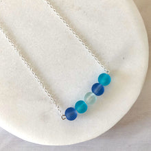 Load image into Gallery viewer, Sea glass mix bar necklace