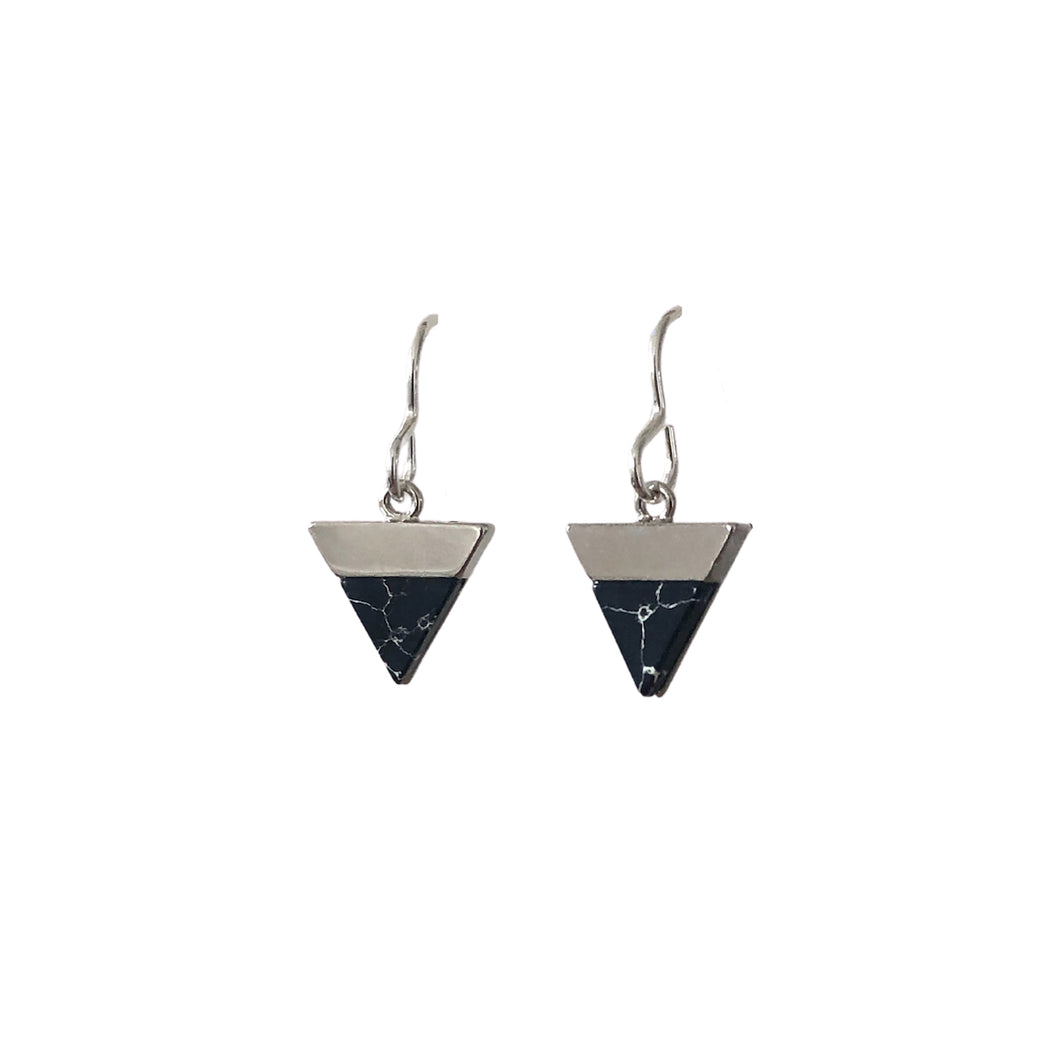 Black mountain silver earrings